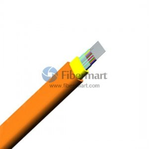 4 Fibers 50/125μm Multimode 10G OM3 Multi-Core Indoor Ribbon Flat Fiber Optic Cable-GJFDBV