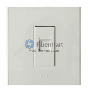 TCL Legrand 1xRJ45 Socket Outlet Wall Face Plate 86 Type A6 Series