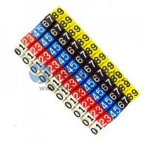 10pcs/lot Colour Label Numberic Cable Wire Marker Identification for Cat5e Lettering style