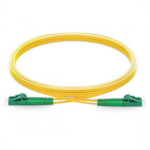 10M LC APC to LC APC Duplex 2.0mm PVC(OFNR) SMF Bend Insensitive Fiber Patch Cable