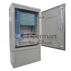 Max. 144 Fiber Fusion Splices SMC Fiber Optic Cross Connection Floor Mount Cabinet