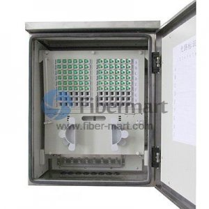 Max. 144 Fiber Fusion Splices 304SS Fiber Optic Cross Connection Cabinet with Wall Mount