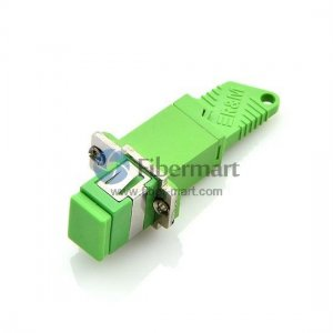 E2000/APC to SC/APC Hybrid Single-mode Simplex Plastic Fiber Adapter