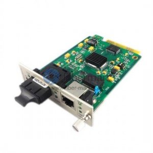 60km 10/100M 1SC+2RJ45 Port Dual Fiber 1310nm Centralized Management Card Type Media Converter