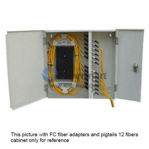 12 Fibers FM (05) A-24A LC Outdoor Wall Mountable Fiber Terminal Box as Distribution Box with Pigtails and Adapters