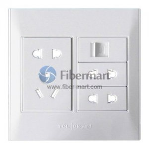 TCL Legrand 2x2Port+1x3Port+1xRJ45 Socket Outlet Wall Face Plate 120 Type 120 Series
