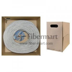 305m Bulk Cat6A 600MHz Cable UTP Plenum Jacket Gray