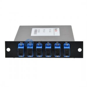 2x4 Fiber PLC Splitter with Standard LGX Metal Box