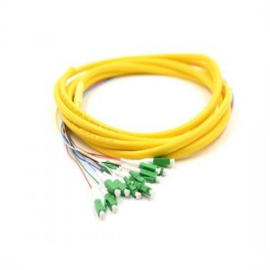 1.5M 12 Fibers LC/APC 9/125 Singlemode Bunch Fiber Optic Pigtail 0.9mm PVC Jacket