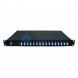 16 channels, Type B, 1RU Rack Mount, Simplex BIDI, Athermal AWG, DWDM Mux & Demux