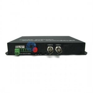 2 Channel Video & 2 Simplex Forward Audio to Fiber SM 20km Optic Video Multiplexer