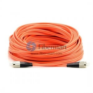 FC-FC Plenum(OFNP) Duplex 50/125 Multi-mode Fiber Patch Cable