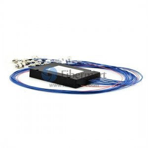 1x16 Fiber Polarization Maintaining(PM) PLC Splitter Slow Axis with Plastic ABS Box Package