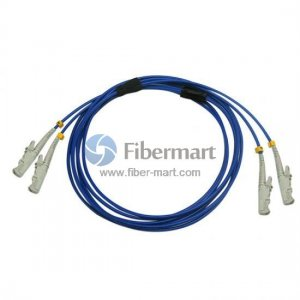 E2000/UPC to E2000/UPC Duplex Singlemode 9/125 Armored Patch Cable