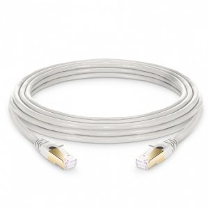 Cat8 Snagless Shielded (SFTP) PVC CM Ethernet Network Patch Cable, Off-White 20ft (6.1m)