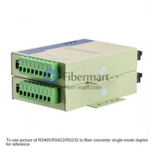 Industrial RS485/RS422/RS232 to Multi-mode Duplex Fiber Converter, 1310nm 2km