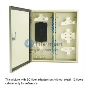 24 Fibers FM(05)B-48 FC Outdoor Wall Mountable Fiber Terminal Box as Distribution Box with Pigtails and Adapters
