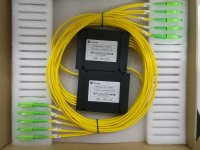 1x4 Fiber PLC Splitter with Plastic ABS Box Package
