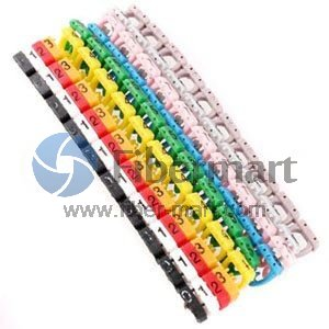 10pcs/lot Colour Label Numberic Cable Wire Marker Identification for Cat6 Printing Type