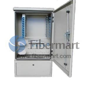 Max. 108 Fiber Fusion Splices 201SS Fiber Optic Cross Connection Floor Mount Cabinet for Outdoor & Indoor
