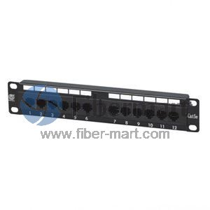 12 Port CAT5e Unshielded UTP Patch Panel