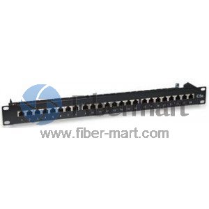 24 Port Cat6 FTP Patch Panel 1U