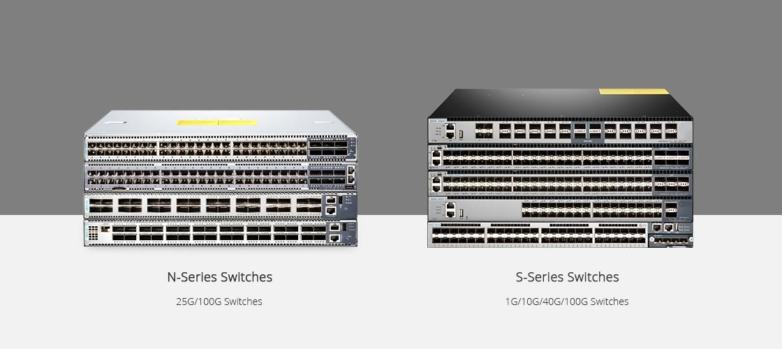 N5850-48S6Q (48*10Gb+6*40Gb) 10Gb SDN Switch with L2/L3 ICOS