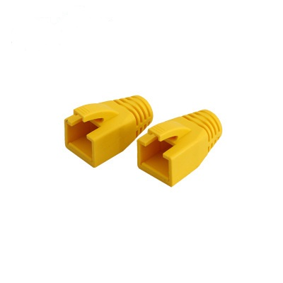 Yellow color RJ45 Boot Cover